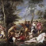 Bacchanal at Andros by Peter Paul Rubens Photographic Print