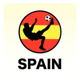Spain Soccer Reproduction proc&#233;d&#233; gicl&#233;e