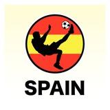 Spain Soccer Giclee Print