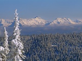 Mountains in Glacier National Park, from a ski area above Whitefish Photographic Print by Gordon Wiltsie