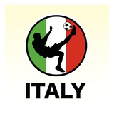 Italy Soccer Reproduction proc&#233;d&#233; gicl&#233;e