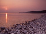 Sunrise at Halfway Log Dump on Georgian Bay Along the Niagara Escarpment on the Bruce Peninsula. Br Photographic Print by Andrew McLachlan