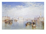 View of Venice: The Ducal Palace, Dogana and Part of San Giorgio Giclée-tryk