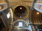 Ceiling of the Dome in St. Peter's Basilica Lámina fotográfica por Sylvain Sonnet