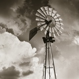 Windmill and Clouds by Tom Marks Fotografie-Druck von Tom Marks