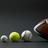 Various sport balls Photographic Print