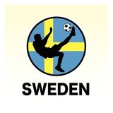 Sweden Soccer Reproduction procédé giclée