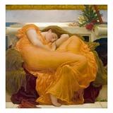 Slapende vrouw: Flaming June Gicléedruk van Frederick Leighton