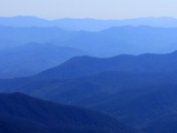 Fog over mountain ranges, Great Smoky Mountains, Blue Ridge Mountains, North Carolina, USA Photographic Print by Sergio Pitamitz