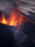 Lava erupting from Eyjafjallajokull Photographic Print