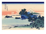 Shichiri Beach in Sagami Giclee-trykk av Katsushika Hokusai
