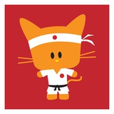 Karate kitten Giclee Print by Sabet Brands