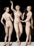 The Three Graces Photographic Print by Lucas Cranach the Elder