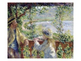 By the Water Giclée-tryk af Pierre-Auguste Renoir
