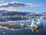 Ice washed ashore glacier at Joekulsarlon Photographic Print by Frank Krahmer