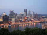 Pittsburgh Skyline Along the Monongahela River Photographic Print by Richard Nowitz