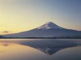 Mt. Fuji reflected in lake, Kawaguchiko, Yamanashi Prefecture, Japan Photographic Print
