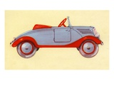 Illustration of toy car Giclee Print