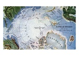 Map of Peary's North Pole Expedition Giclee Print