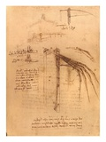 Sketch for a wing with moveable ends by Leonardo da Vinci Giclee Print
