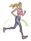 Woman jogging Giclee Print