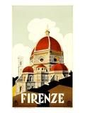 """Affisch från Florens, """"Firenze"""" Gicleetryck"""