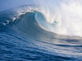 Breaking Waves at a Surfing Area called Peahi, North Shore of Maui, Hawaii Photographic Print by Ron Dahlquist