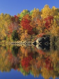 Simon Lake Reflection, Naughton, Ontario, Canada Photographic Print by Mike Grandmaison