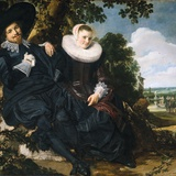 Marriage Portrait of Isaac Massa and Beatrix van der Laen Photographic Print by Frans Hals the Elder