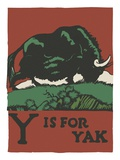 Y is for yak Giclee Print