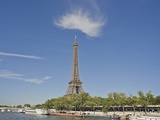 Eiffel Tower viewed from the Seine Photographic Print by Peet Simard