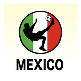 Mexico Soccer Giclee Print