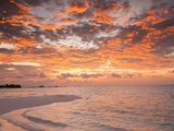 Sunrise over the Maldive Islands Photographic Print by Frank Lukasseck