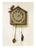 Hickory Dickory Dock, the Mouse Went Up the Clock Giclee Print
