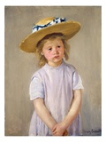 Child in a Straw Hat Giclee Print by Mary Cassatt