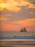 Lugger type pearling sailboat near Broome in Western Australia Photographic Print by Nick Rains