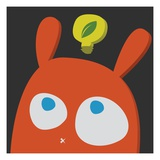 Rabbit thinking about green energy Giclee Print by Sabet Brands