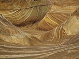 Colorful sandstone layers of The Wave at Coyote Buttes Photographic Print by John Eastcott & Yva Momatiuk