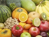 Variety of fruits and vegetables Photographic Print
