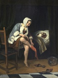 Woman at Her Toilet Photographic Print by Jan Havicksz. Steen
