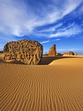 Eroded landscape in Tassili du Hoggar Photographic Print by Frank Krahmer