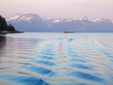 Pattern of waves in the sea, Blue Mouse Cove, Glacier Bay National Park, Alaska, USA Photographic Print by Don Paulson