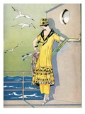 Illustration of Woman in 1920s Fashion Giclee Print