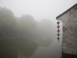 Riverside in the morning fog, Xi Tang, China Photographic Print by Masahiro Sato