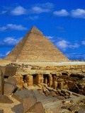 Tombs Near Pyramid of Khafre Photographic Print by Larry Lee