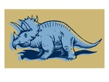 Triceratops Giclee Print by Sabet Brands