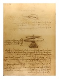 Drawing of flying machines by Leonardo da Vinci Giclee Print