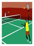 People Playing Tennis Giclee Print