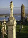 Gravestones at Clonmacnoise monastery Photographic Print by Doug Pearson