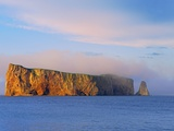 Fog on Roche Perce on Gaspe Peninsula Photographic Print by Mike Grandmaison
